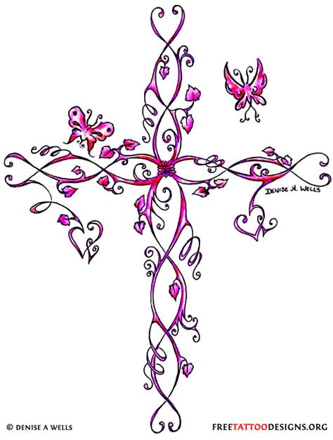tattoo designs girly cross gallery