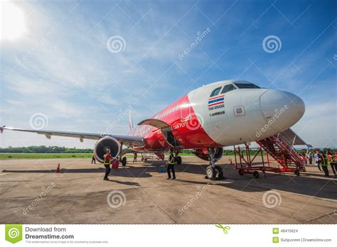 airasia support air asia editorial stock image image 48415624