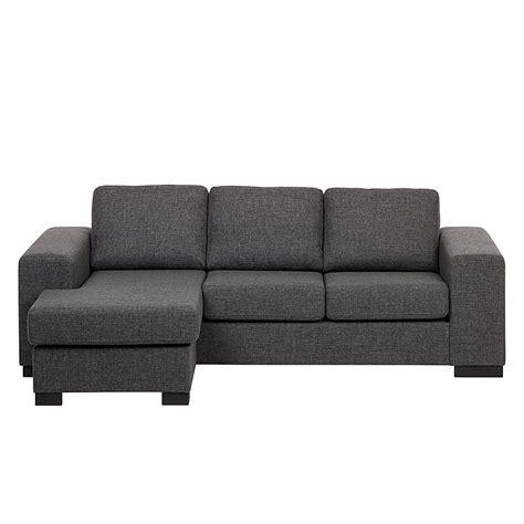 ottomane links oder rechts montierbar ecksofa strukturstoff grau schlafsofa sofa