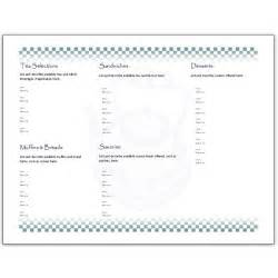 tri fold menu template free hosting a tea an afternoon tea menu template for