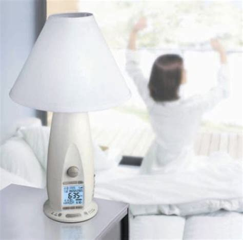 verilux rise  shine alarm clock lamp  green head