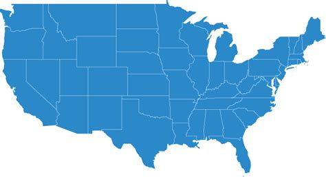 united states map showing and blue states about us insulated product corp cold chain packaging