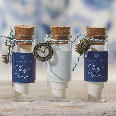 small glass bottle with cork stopper knot shop