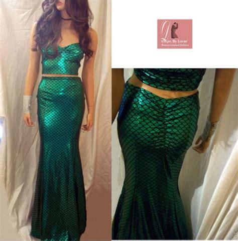 Maxi Dress Set Green mermaid maxi skirt set green mermaid scale skirt set