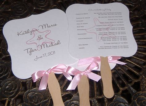 wedding program fans wedding program fans custom order for crista local pickup