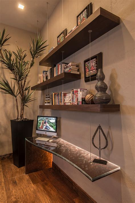 photos hgtv floating wood shelves and glass desk loversiq