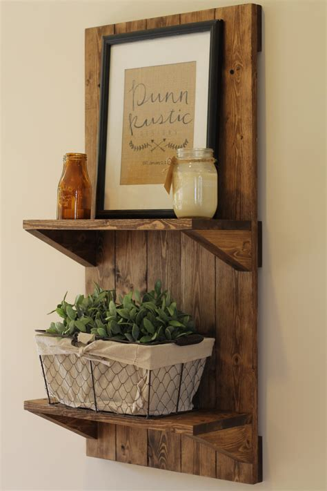 Bathroom Wall Shelves Wood Vertical Rustic Wooden Shelf Rustic Shelf Rustic Furniture