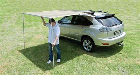 awnings for vehicles rhino rack sunseeker 2 5 vehicle awning adventure ready