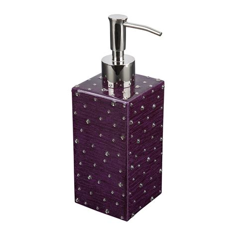 black diamond bathroom accessories buy mike ally stardust soap dispenser amethyst black