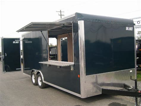 concession trailer awnings car mate 8 x 20 enclosed cargo trailer concession trailer