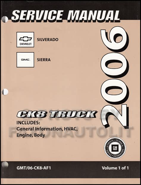 online car repair manuals free 2003 chevrolet silverado on board diagnostic system 2006 chevy silverado and gmc sierra cng repair shop manual original supplement