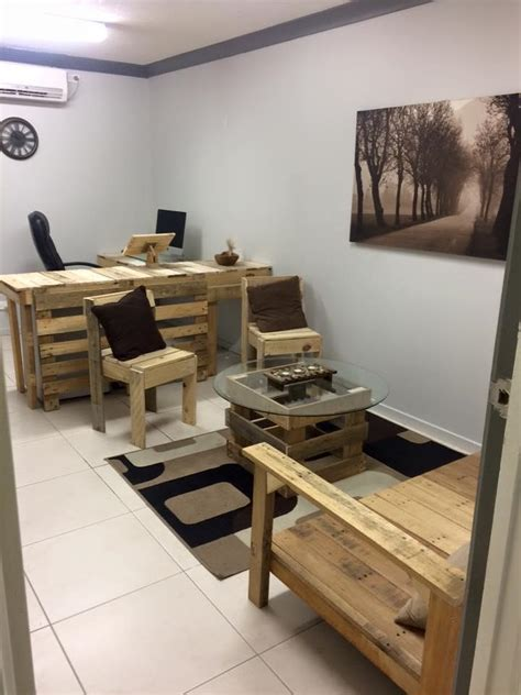 pallet office furniture diy pallet furniture