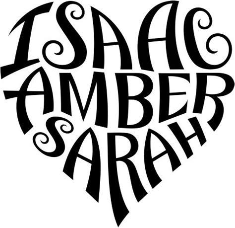 tattoo company name generator quot isaac quot quot amber quot quot sarah quot heart design a custom design