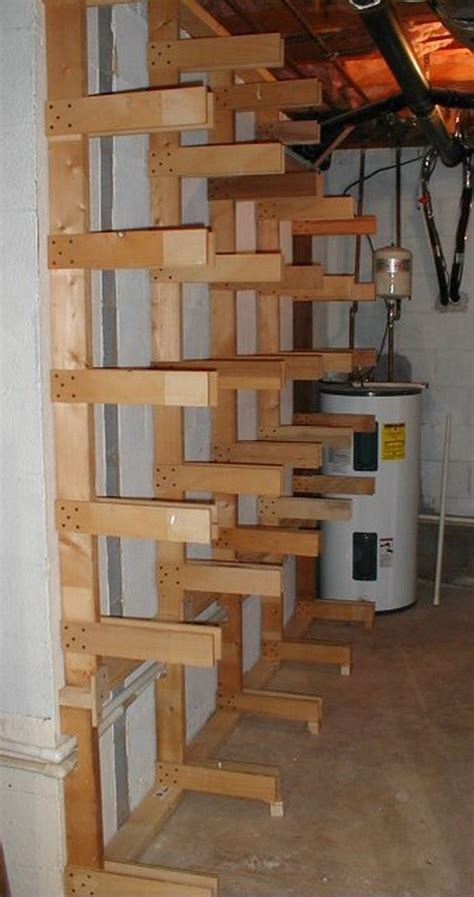 Build Lumber Storage Rack by Build Your Own Portable Lumber Rack