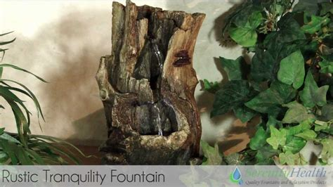 serenity home and health decor rustic tranquility tabletop fountain by serenity health