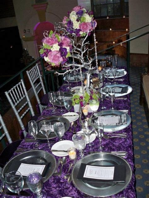 63 best wedding purple silver images on pinterest