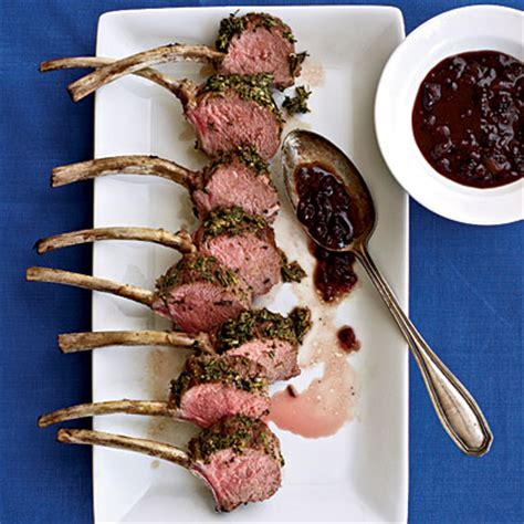 What Sauce Goes With Rack Of by Herbed Rack Of With Lingonberry Sauce Recipe Myrecipes