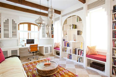 moroccan living room design ideas architectural details curved doorways and moroccan inspired lights shape this living