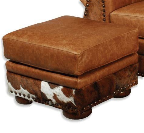 hair on hide ottoman western furniture the legend saloon tee hair on