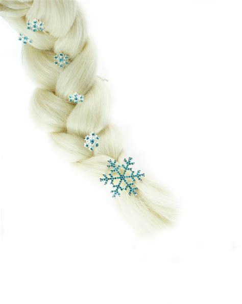 Elsa Button Hairclips frozen princess snow elsa hairpins hair jewelry hair accessories set of 6 in hair