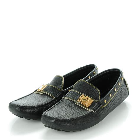 louis vuitton black loafers louis vuitton goatskin studded suhali loafers 37 5 black