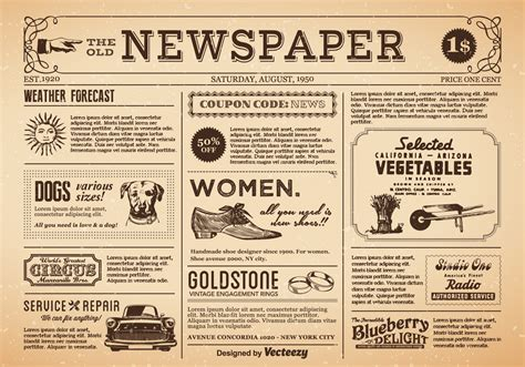 Fancy 1920s Newspaper Template Gallery Professional Resume Templates Bestwordpresstemplate Info 1920s Newspaper Template
