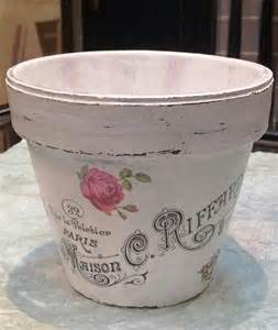 Decoupage Clay Pots Ideas - diy decoupage flower pot with image from graphics