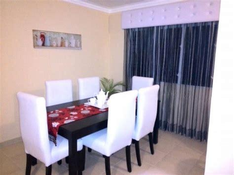 cortinas  comedor blanco  negro cortina