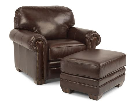 flexsteel leather chair and ottoman flexsteel harrison upholstered ottoman olinde s