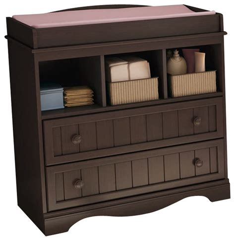 South Shore Changing Table Espresso South Shore Handover Changing Table In Espresso Finish Transitional Changing Tables By Cymax