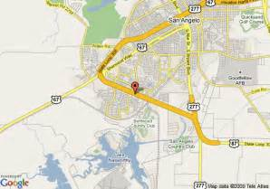 where is san angelo on the map map of best western san angelo san angelo