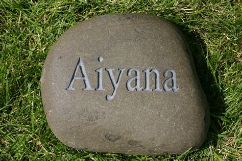 Engraved Garden Rocks Custom Engraved Garden Name Address By