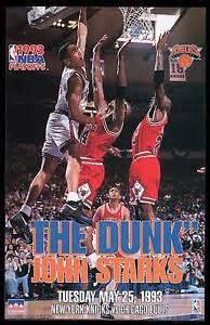 1993 john starks 034 the dunk 034 new york knicks starline poster mini