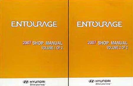 how to download repair manuals 2007 hyundai entourage head up display 2007 hyundai entourage factory shop manual set new