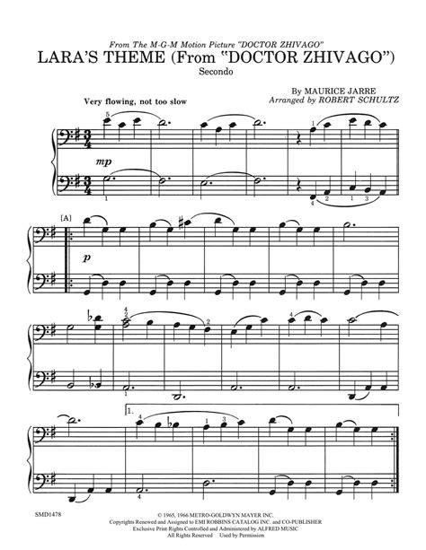 theme song dr zhivago lara s theme elem duet schultz music publications