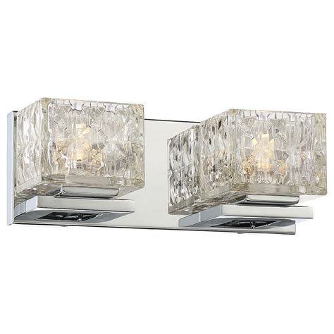 Led Bathroom Vanity Light Lumens By Avenue 2 Light Chrome Led Bath Vanity Light 23842 The Home Depot