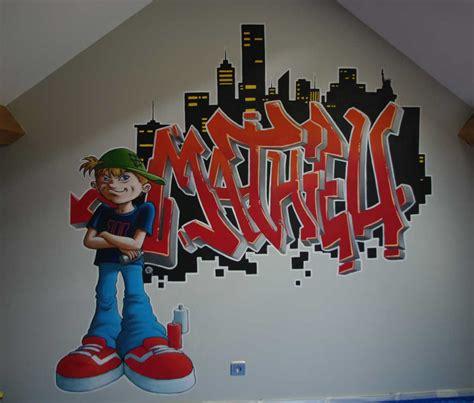 fresque murale chambre enfant fresque graffiti chambre enfant sylvano arts graphiques