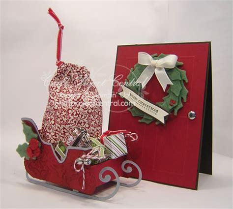 sleigh christmas crafts craftprojectcentral 187 archive 187 santa s sleigh door card bonus project