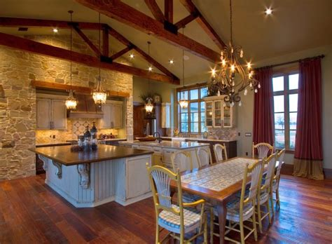 Ranch Style Home Interior Design by Ranch Home Rustic Kitchen Houston By Sweetlake
