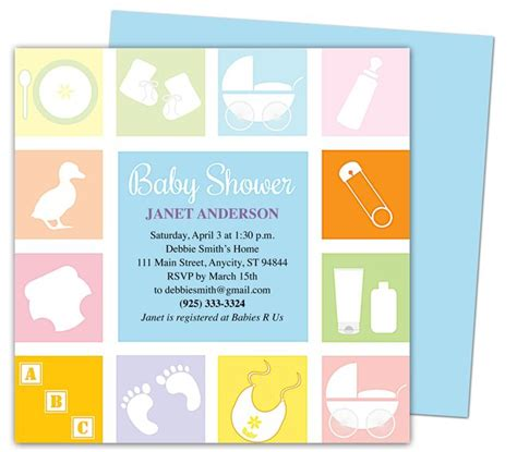 Baby Shower Templates For Mac | baby shower invitations template blocks shower