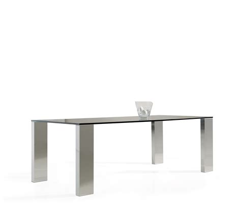 Steel Glass Dining Table Dining Table Stainless Steel Inox And Glass