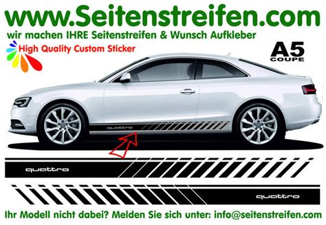 Decal Striping Sticker Klx 041 Glossy audi a5 s5 coupe quattro evo side stripes sticker decal