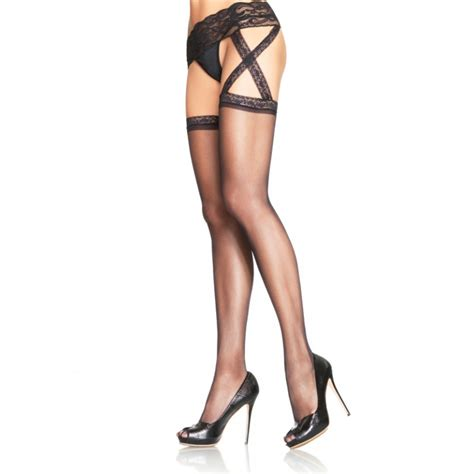 sheer garter belt sheer criss cross garter belt thigh high
