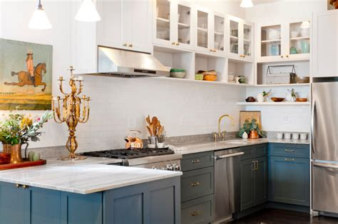 Open Front Kitchen Cabinets My Houzz 5th Ave Apartment Transitional Kitchen New