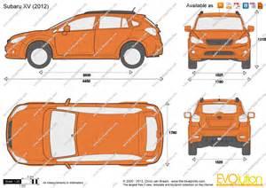Subaru Crosstrek Dimensions The Blueprints Vector Drawing Subaru Xv