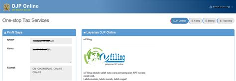 djp online pajak go id petunjuk cara pendaftaran pajak dan tata cara pelaporan