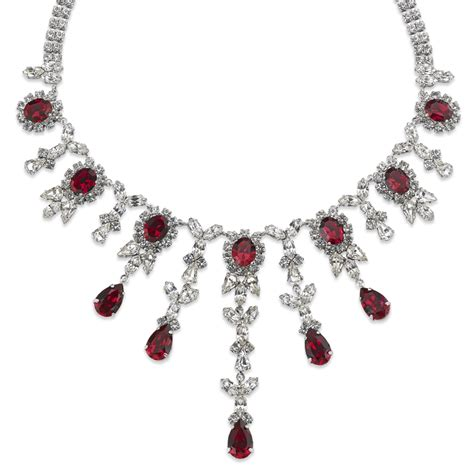annerose royal necklace ruby white