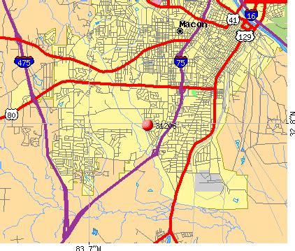 zip codes macon map