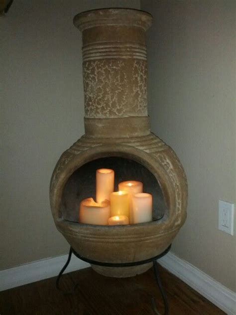 Indoor Chiminea Chiminea Candle Fireplace House Decor
