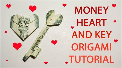 key origami money and key origami dollar tutorial diy folded